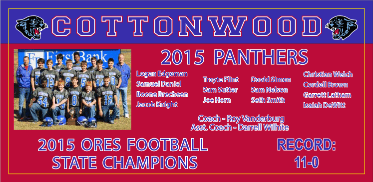 Cottonwood Panthers banner