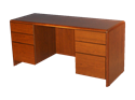 Picture of CLEARANCE: ECL Kneehole Credenza AK Articulating Keyboard Mahogany