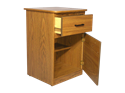 Picture of CLEARANCE: AC Telephone Stand Walnut 1 Drawer & 1 Door
