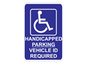 Picture of Handicap Parking Vehicle ID Required