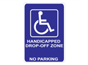 Picture of Handicapped Drop-Off Zone No Parking