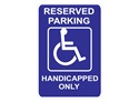 Picture of Reserved Parking Handicapped Only