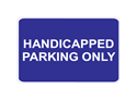 Picture of Handicapped Parking Only-Text
