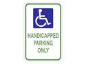 Picture of White-Handicapped Parking Only
