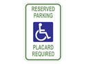 Picture of White-Reserved Parking Placard Required