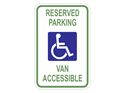 Picture of White-Reserved Parking Van Accessible
