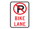Picture of No Parking Bike Lane (Crossed Out P)