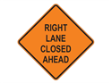 Picture of Right Lane Closed Ahead