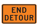 Picture of End Detour-Text