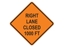 Picture of Right Lane Closed 1000 FT