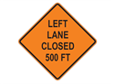 Picture of Left Lane Closed 500 FT