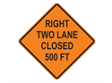 Picture of Right Two Lane Closed 500 FT