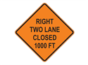 Picture of Right Two Lane Closed 1000 FT
