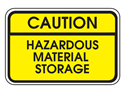 Picture of Caution Hazardous Material Storage