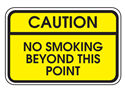 Picture of Caution No Smoking Beyond This Point