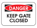 Picture of Danger Keep Gate Closed