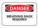 Picture of Danger Breathing Mask Required