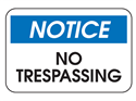 Picture of Notice No Trespassing