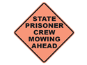 Picture of State Prisoner Crew Mowing Ahead Text