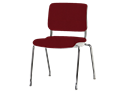 Picture of Sitka Armless Four-Leg Chair With Upholstered Seat And Back
