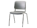 Picture of Sitka Armless Four-Leg Chair With Poly Seat And Back
