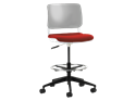 Picture of Sitka Armless Task Stool With Upholstered Seat And Poly Back